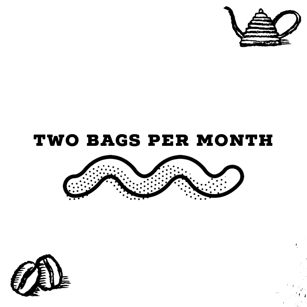Two 12 Oz Bags Per Month
