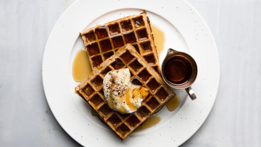 Waffles made with coffee