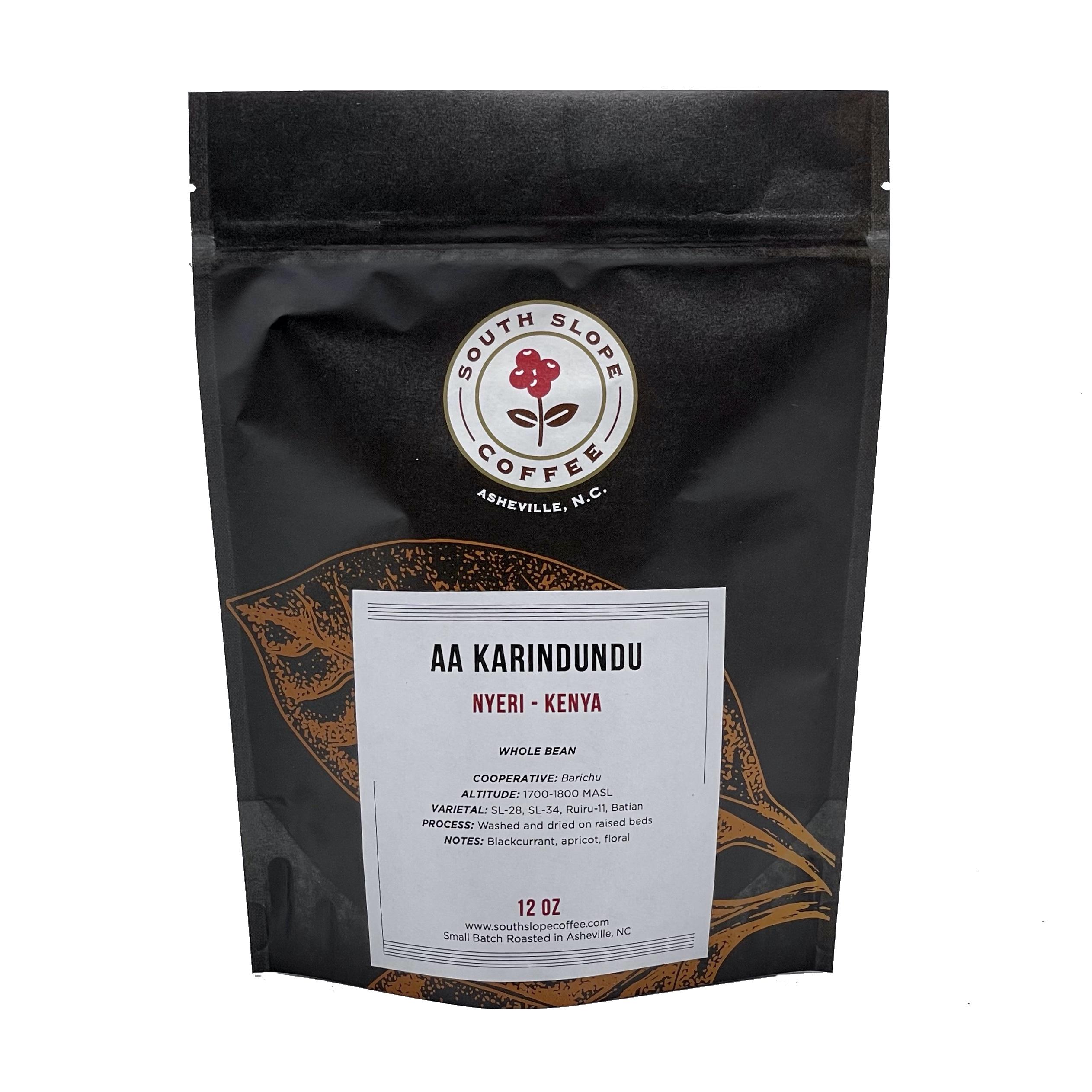 12 Ounce bag of coffee roasted by south slop coffee from kenya kirandundu cooperative in Nyeri