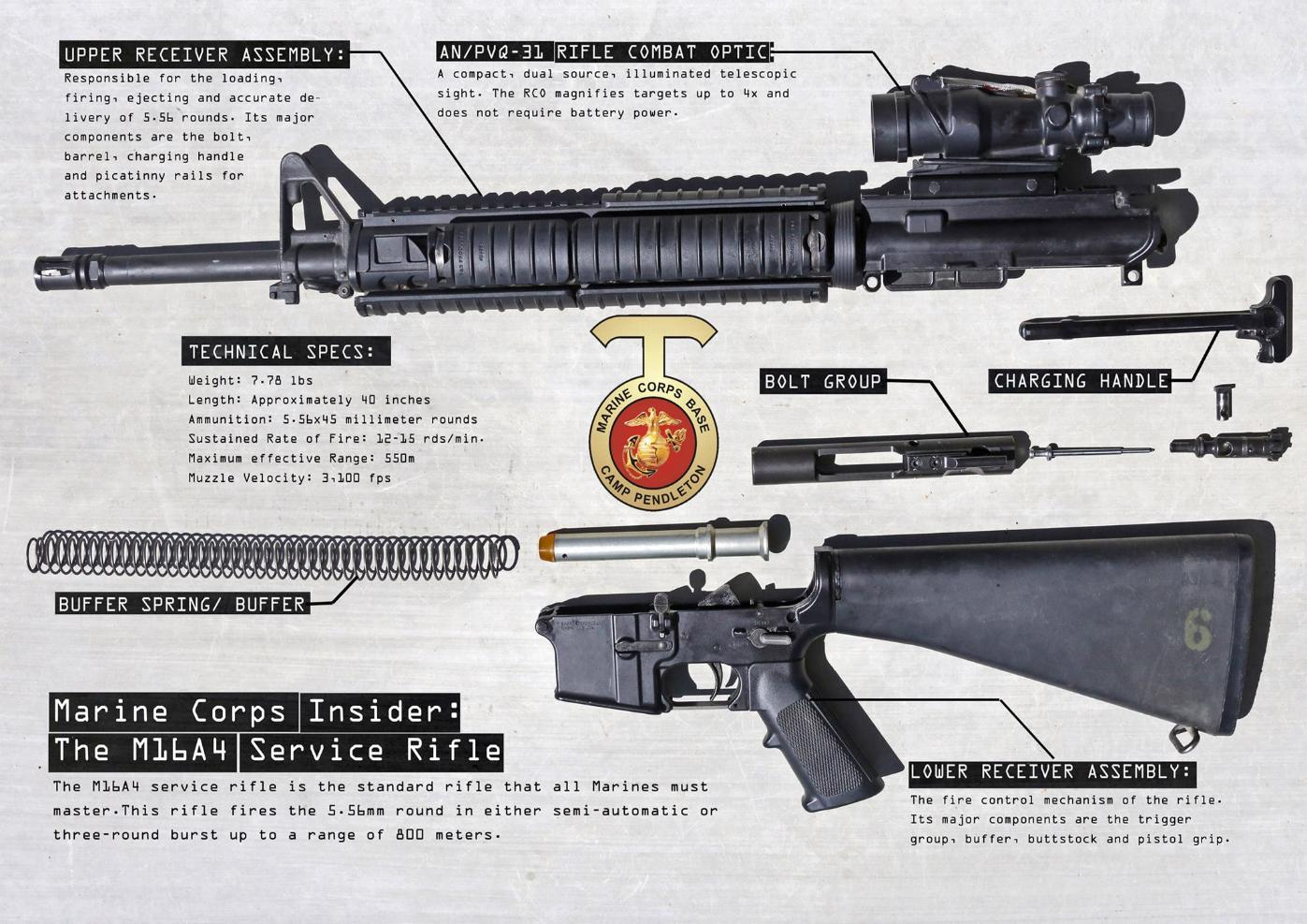 m16 exploded diagram brown bear south texas marksmanship training center disassembled view