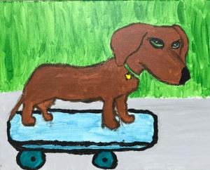 'Weiner Dog' Annika Baldwin