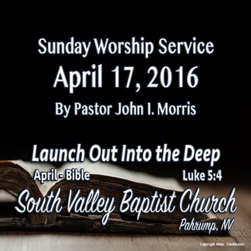 April 17 2016 Sermon