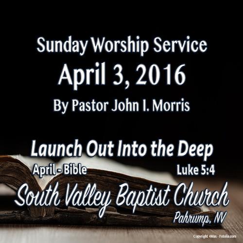 April 3 2016 Sermon