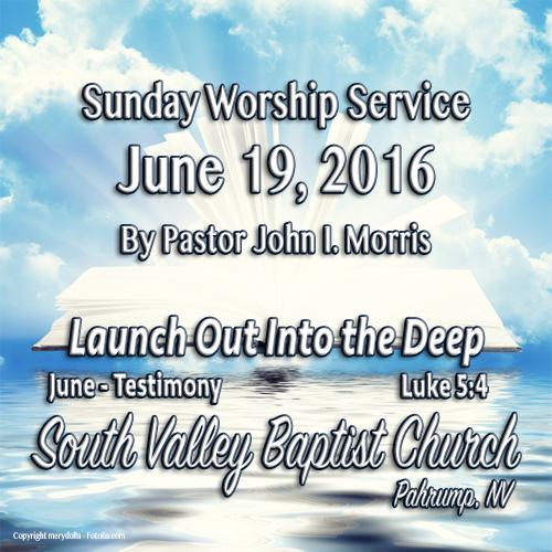 June 19 2016 Sermon