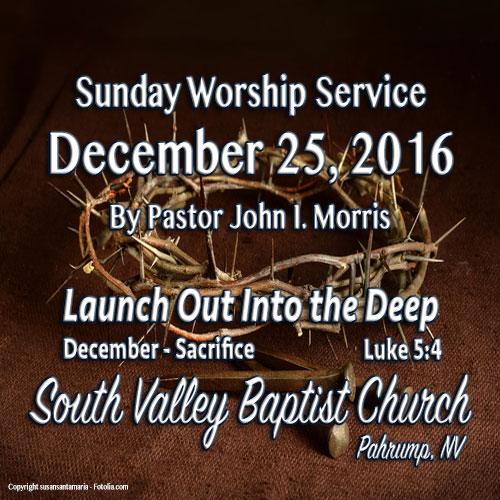 Dec 25 2016 Sermon