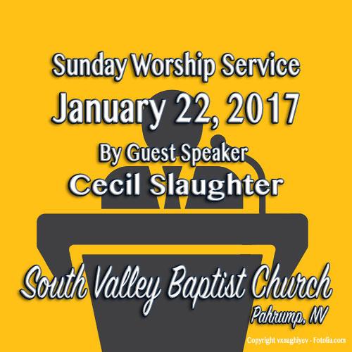 Sermon Jan 22 2017 10:30