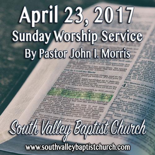 Sermon April 23 2017