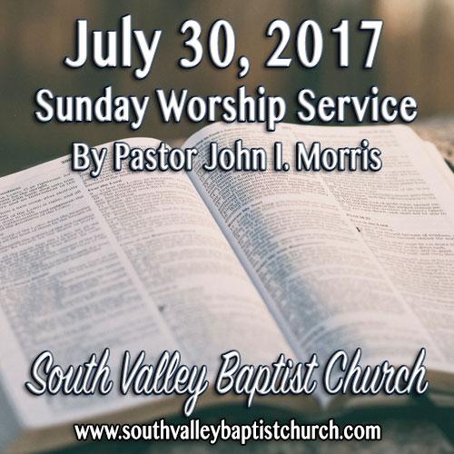 Sermon July 30 2017