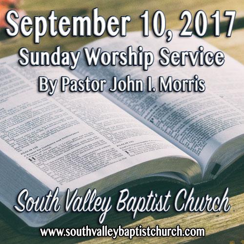 Sermon September 10 2017
