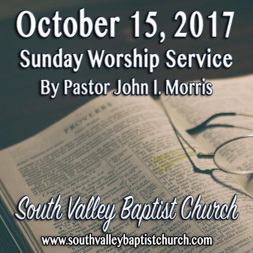 Sermon October 15 2017