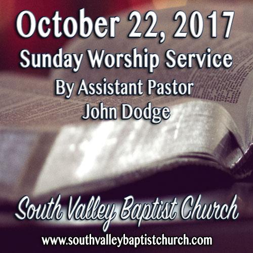 Sermon October 22 2017