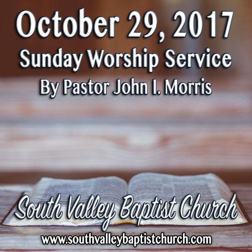 Sermon October 29 2017