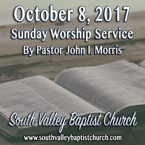 Sermon October 8 2017
