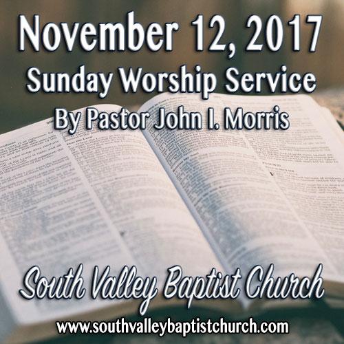 Sermon November 12 2017