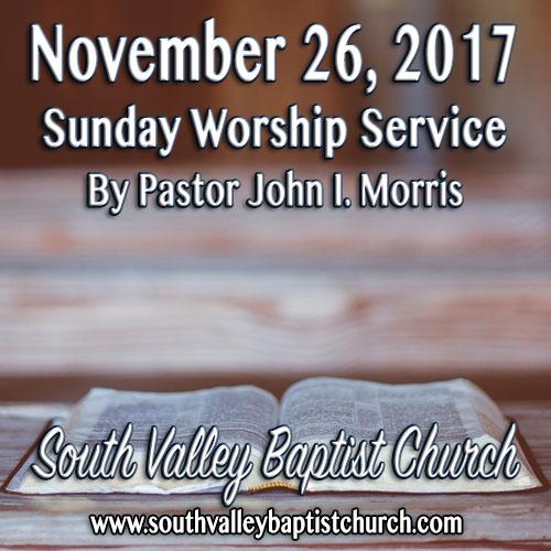 Sermon November 26 2017