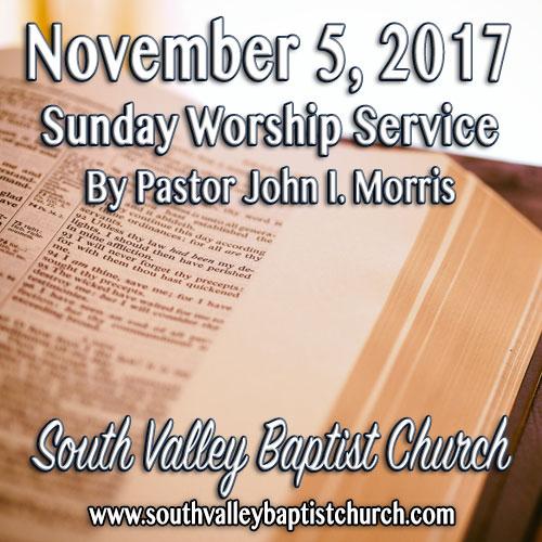 Sermon November 5 2017