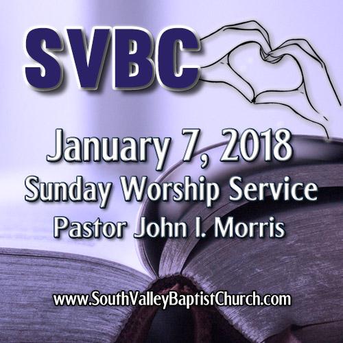 2018 Sermon January 07