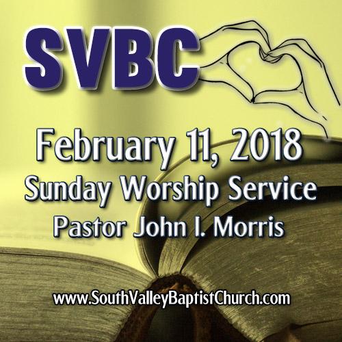 2018 Sermon February 11