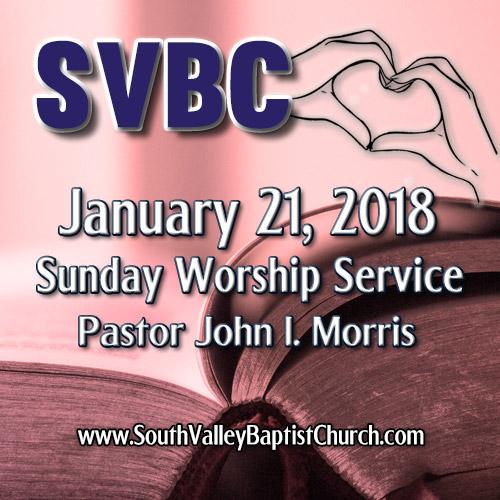 2018 Sermon January 21