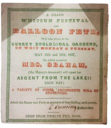 Surrey Zoological Gardens Balloon Ascent Ticket (Mrs Graham)