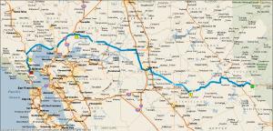 Gereden: 285 km.