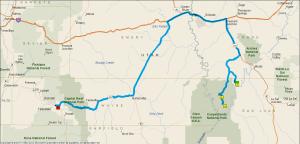 Gereden 335 km.