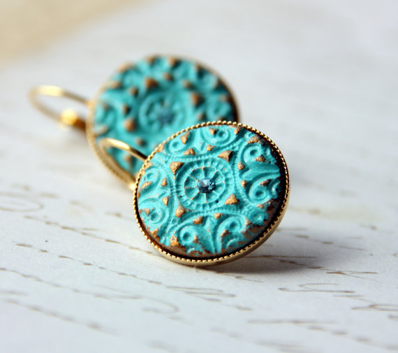 Gold And Turquoise Wedding