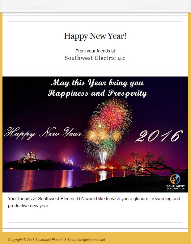 2016 Happy New Years card