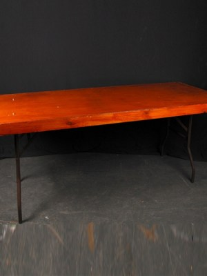 6 ft x 2 ft 6 ins wooden trestle table