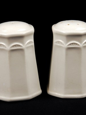 SALT & PEPPER White Crockery Hire