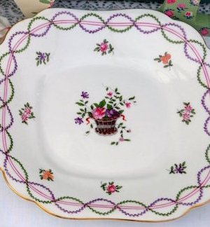 Vintage China Cake / Sandwich Plate