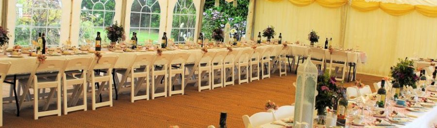 folding white chairs for hire