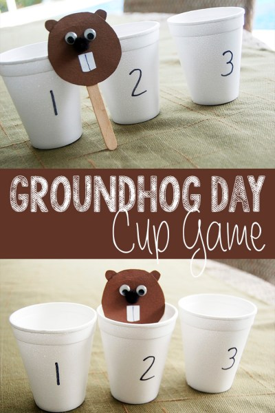 Groundhog Day Cup Game