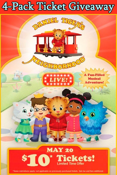Daniel the Tiger Live Family 4-Pack Giveaway