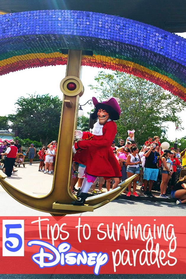 We love Disney parades. They are SO fun and the characters, as always, are amazing. But they can be a little chaotic so here are 5 tips to surviving Disney parades.