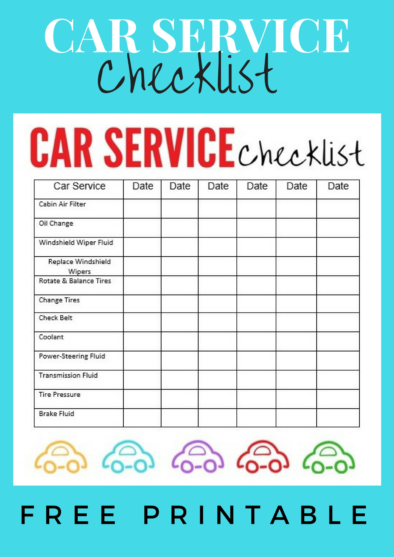 Car Winter Service Checklist