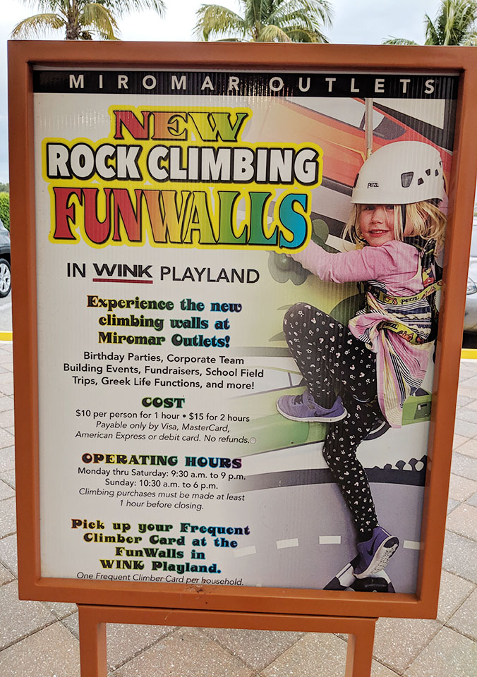 Miromar Outlets Mall WINK Playland - Mom Explores Southwest