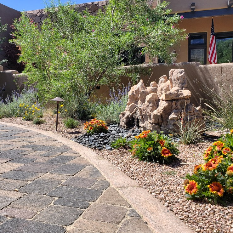Landscaping Albuquerque Water feature xeriscape native plants landscape design albuquerque