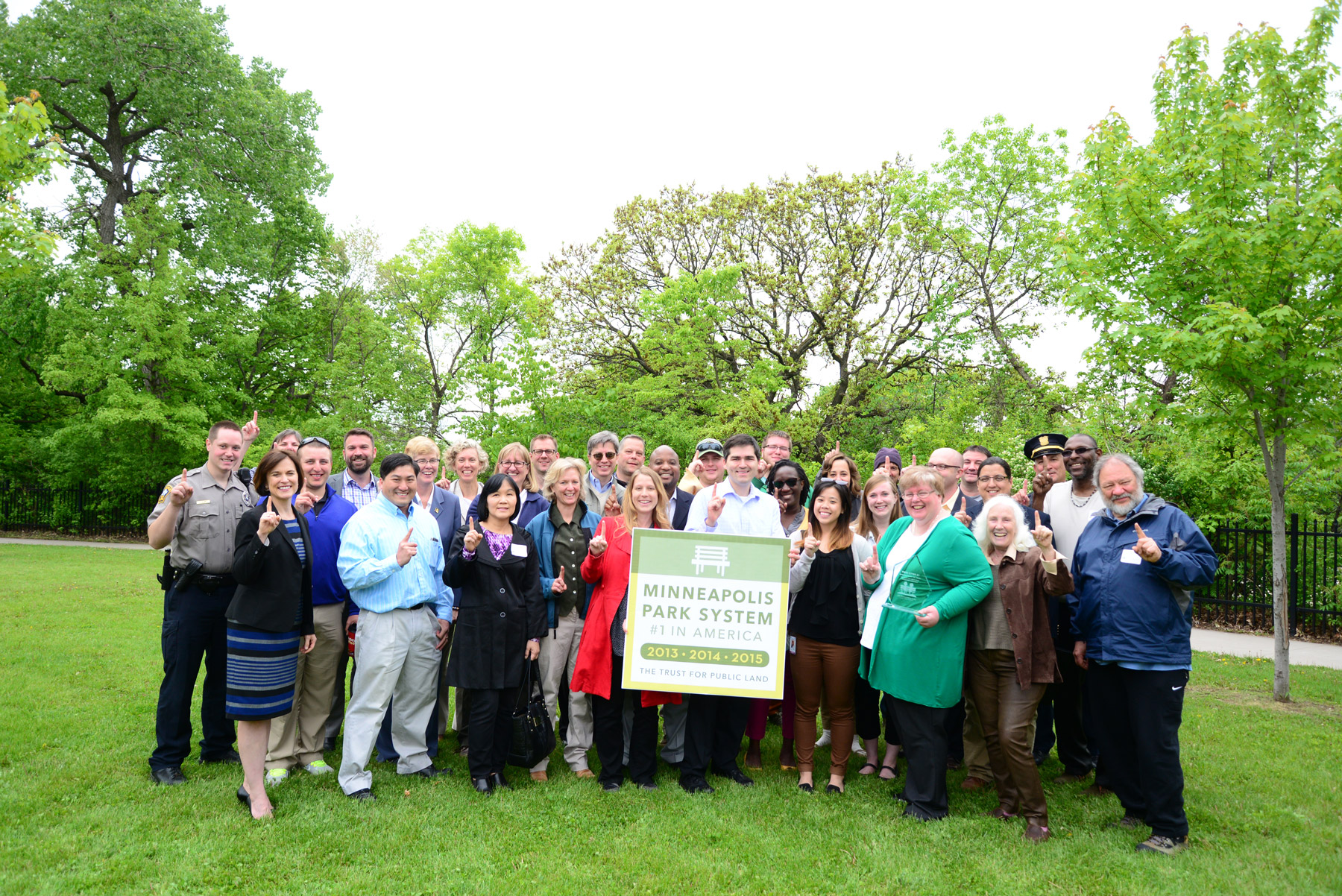Minneapolis park officials celebrated a No. 1 ranking from The Trust for Public Land both this and last year. Photo courtesy of the Minneapolis Park and Recreation Board