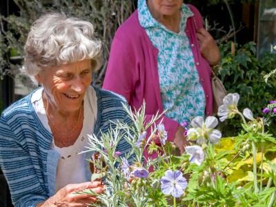 Two ladies in garden