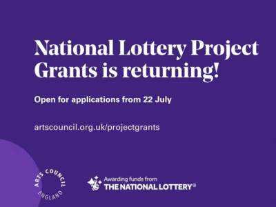 National lottery project grants is returning. applications open from 22nd july.
