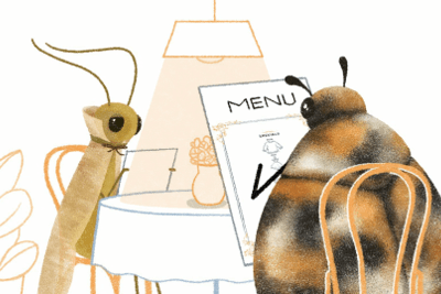 Two pests have dinner