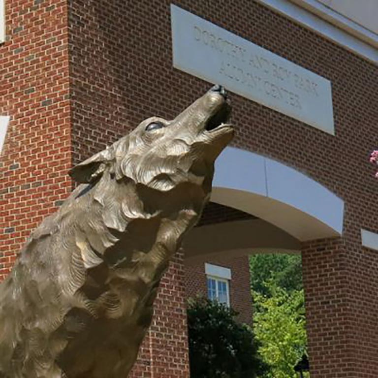 Wolfpack Statue at NCSU Campus