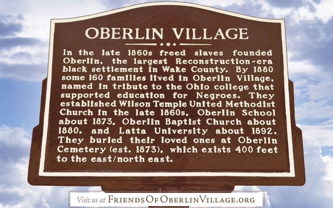 Oberlin Village Historic Road Marker Unveiling