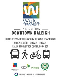 Wake Transit Public Meeting @ Raleigh Convention Center | Raleigh | North Carolina | United States