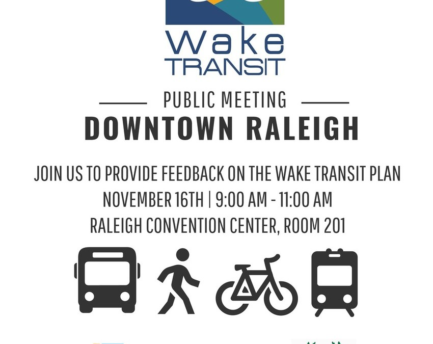 Wake Transit Public Meeting