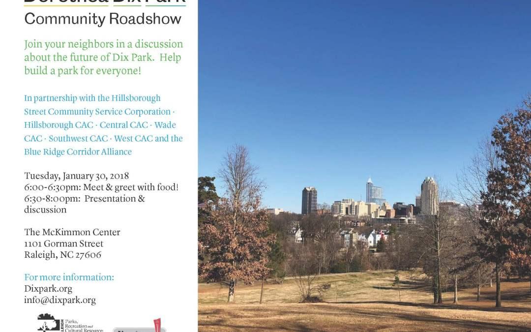 Dorothea Dix Park Community Roadshow