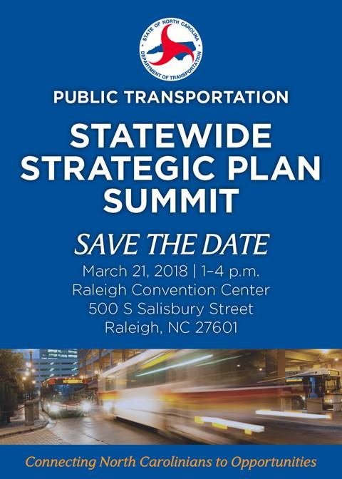 NC Department of Transportation's Public Transportation Statewide Strategic Plan Summit