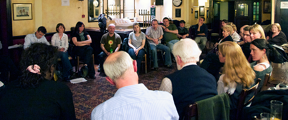 Southwest Scriptwriters meeting, Famous Royal Navy Volunteer, Bristol, 21 April 2009