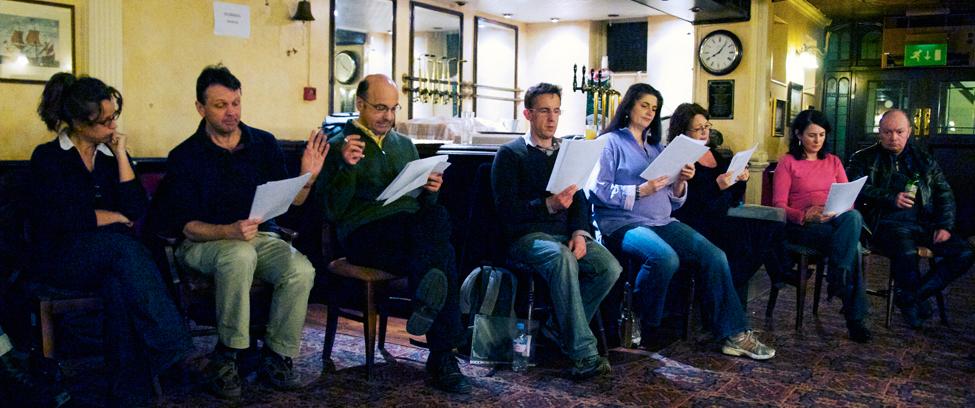 Southwest Scriptwriters meeting, Famous Royal Navy Volunteer, Bristol, 24 March 2009